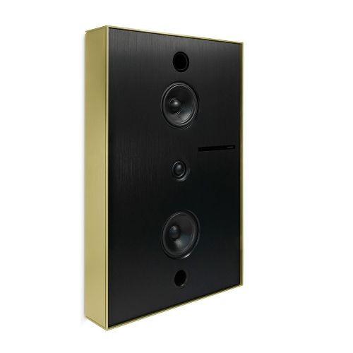 Aalto D3 - active network speaker - brushed brass