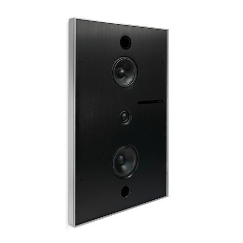 Aalto D3n - in-wall active network speaker - brushed aluminium