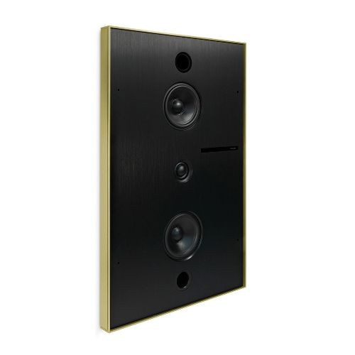 Aalto D3n - in-wall active network speaker - brushed brass