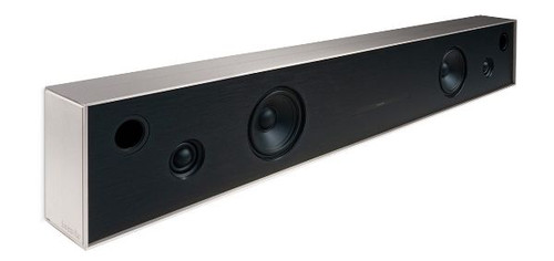Aalto D4 - active stereo network speaker - brushed nickel