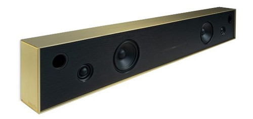 Aalto D4 - active stereo network speaker - brushed brass