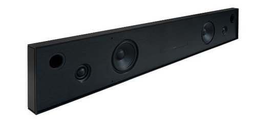 Aalto D4n - in-wall active stereo network speaker - brushed black