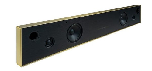 Aalto D4n - in-wall active stereo network speaker - brushed brass