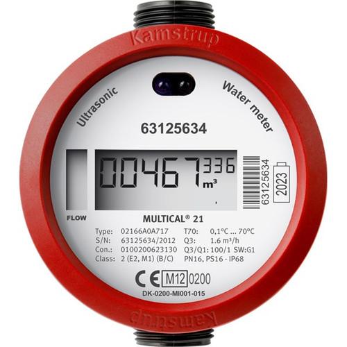 "Kamstrup Warm water meter Mbus Multical 21-2,5m?/h, 1"" x 130"