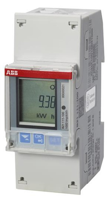 ABB B21 Electricity meter 1-phase B21 111-10L, Elvaco special conf.
