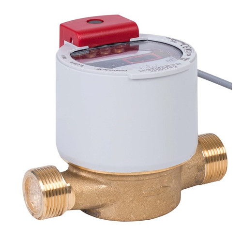 GWF UNICOcoder Warm water meter MP Q3 4, G1B, DN20, L-130 mm with M-Bus