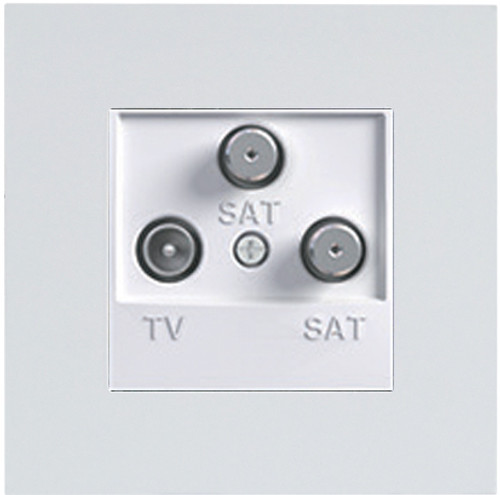 ASF GRAY TV-SAT-SAT SOCKET WITHOUT FRAME