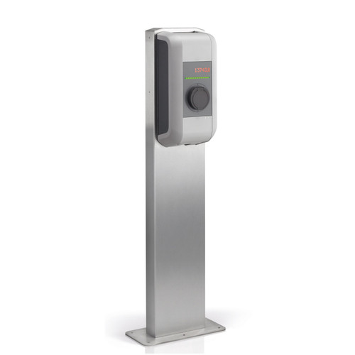 Pedestal for one wallbox - stainless steel / 89,735