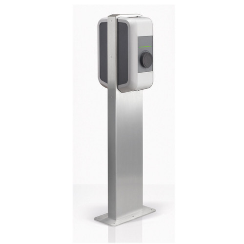 Pedestal for two wallboxes - stainless steel / 90,786