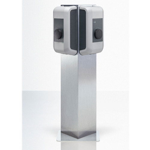 Triangle pedestal for two wallboxes - stainless steel / 99,839