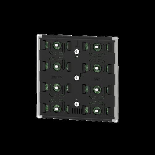 Pushbutton 4-fold - blue/green LED