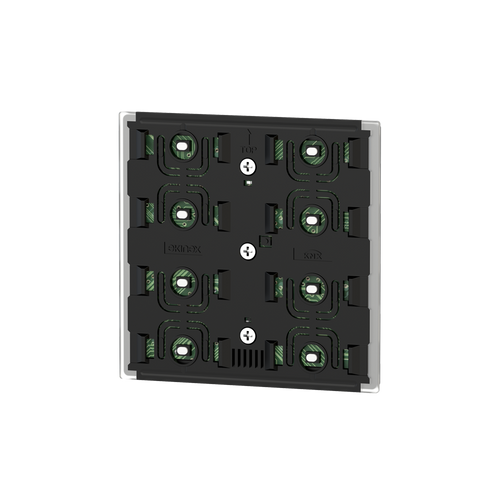 Pushbutton 4-fold, 'NF version, white housing - blue/green LED