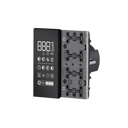 EQ2 room temperature controller, 'NF version, white housing - red/white LED