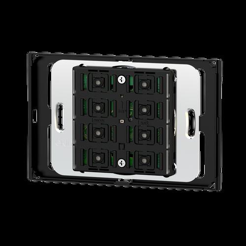 Pushbutton 71 series for rectangular 3-module box- blue/green LED