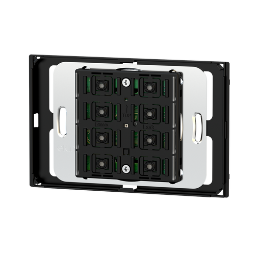 Pushbutton 71 series for rectangular 3-module box, 'NF version - blue/green LED