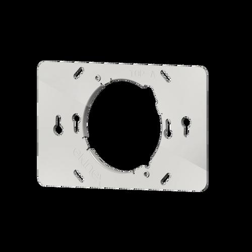 Rectangular metal support for 4-module box(108,5-mm installation centre distance)
