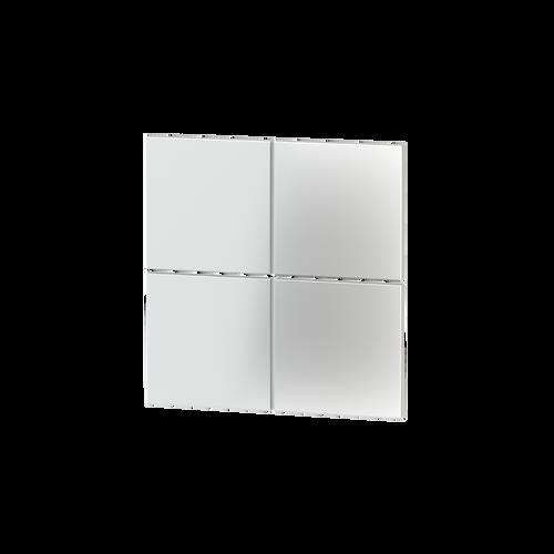 Square plastic rocker + UV printing (1 pcs.) - for 4-fold pushbutton FF series