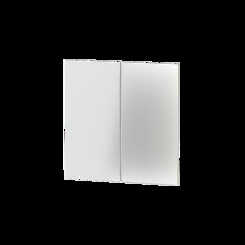 Rectangular vertical plastic rocker (2 pcs.) - for 2-fold pushbutton FF series