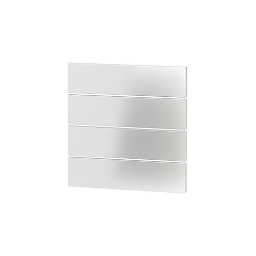 Rectangular horizontal plastic rocker + UV printing (1 pcs.) for 4-fold pushbutton FF series