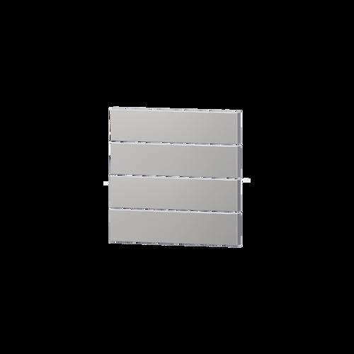 Package 4 rectangular horizontal rockers - silver grey