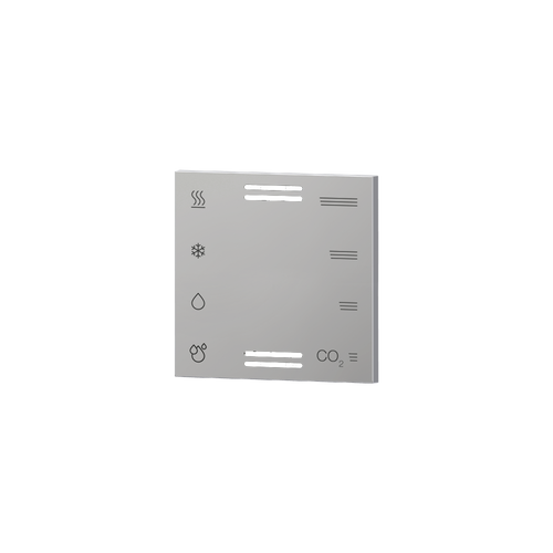 Multisensor cover with symbols and vents aluminum