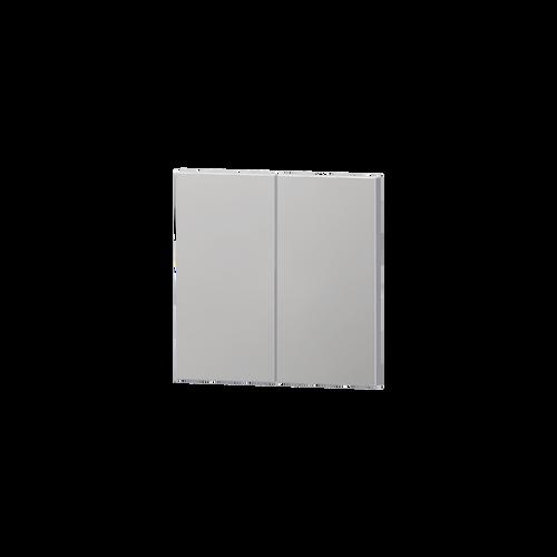 Package 2 rectangular vertical rocker metal finish