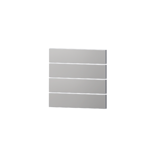 Package 4 rectangular horizontal rockers metal finish
