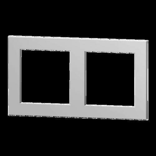 2-fold plastic plate, 55x55 + 60x60 windows