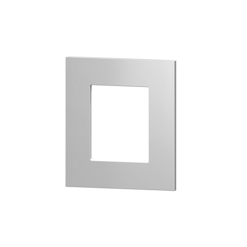 Square plate plastic silver window 45X45