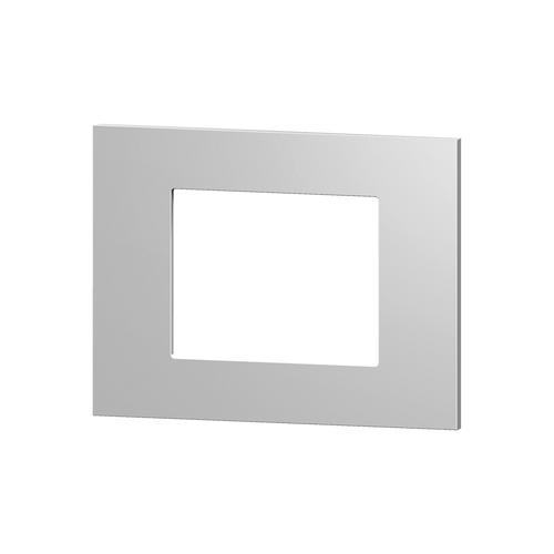Rectangular plate plastic silver windows 60X60