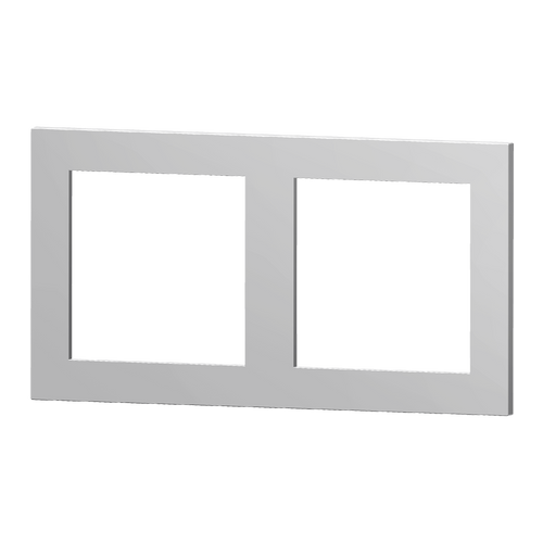 Double plate plastic silver one window 55X55 plus one window 60X60