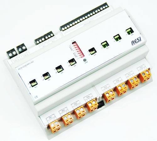 BIG IO module, 8TE, module with 16 digital inputs for 12-48V= signals and 8 bistablerelays. contact rating: max. 250Vac, 16A, 200?F, RS485, MODBUS/RTU slave, ASCII text commands, 12-48V=