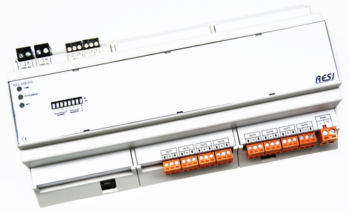 BIG IO module, 8TE, module for 8 shutters or blinds, RS485, MODBUS/RTU slave, 12-48V=