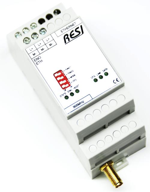 Ethernet gateway ENOCEAN-868MHz-MODBUS/TCP server,ASCII text socket, 10/100MBit Ethernet, incl. antenna, EU