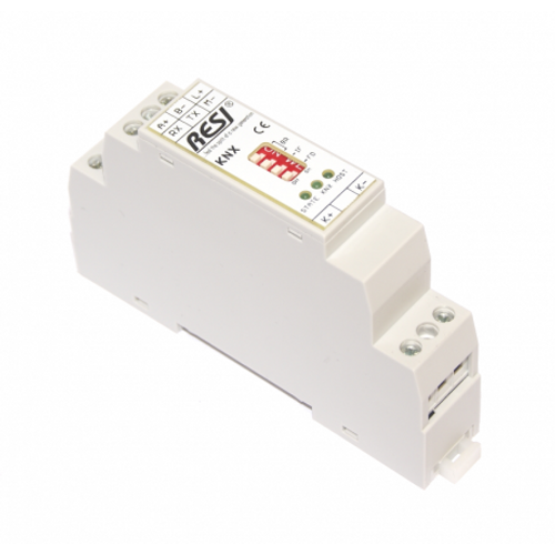 Serial gateway KNX-MODBUS/RTU slave, KNX TP, mapping table size: 150 configuration entries