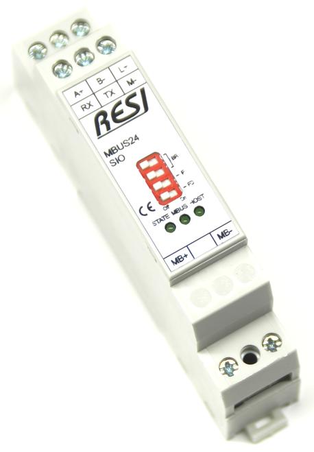 Serial gateway MBUS-MODBUS/RTU slave, max. 24 meter, max. 3000m cable length