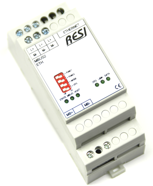 Ethernet gateway MBUS-MODBUS/TCP server, max. 2 meter, max. 3000m cable length
