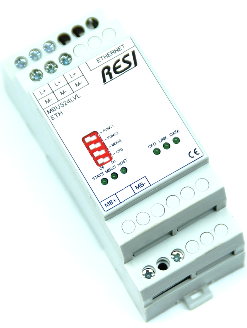 Ethernet level converter MBUS-Ethernet, max. 24 meter, max. 3000m cable length