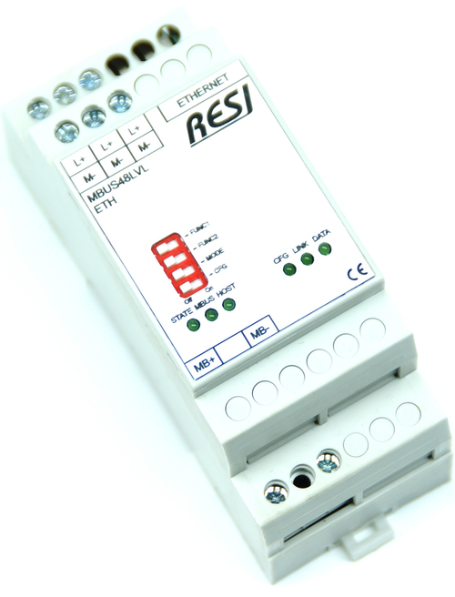 Ethernet level converter MBUS-Ethernet, max. 48 meter, max. 3000m cable length