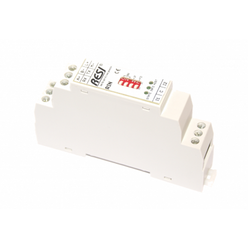 Ultra slim IO module, 2 digital inputs for 10-250V~= signals,MODBUS/RTU Slave or ASCII protocol, RS232 or RS485, 12..48V=