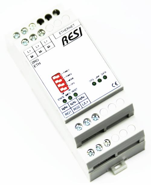 Ultra slim IO module, 1 relay output, MODBUS/TCP server, ASCII Protocol, Ethernet 10/100MBit, 12..48V=