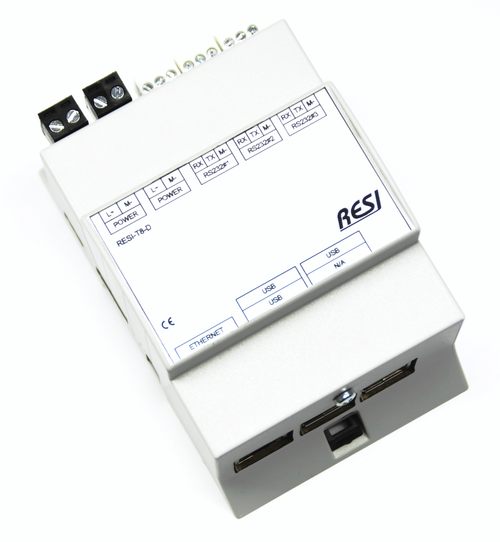 LINUX controller based on the Raspberry PI B3, 16GB SD card, Raspian LINUX preinstalled, 3 native serial RS232 interfaces, integrated realtime clock with battery backup, Powersupply: 12-48V=