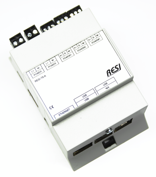 LINUX controller based on the Raspberry PI B3, 16GB SD card, Raspian LINUX preinstalled, 3 native serial RS485 interfaces, integrated realtime clock with battery backup, Powersupply: 12-48V=