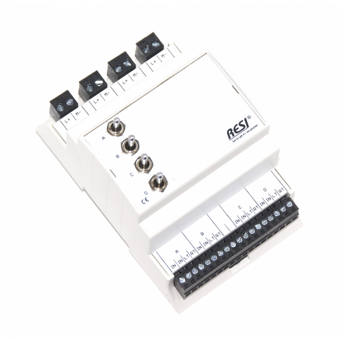 Control module, DIN ISO16484, VDI 3814 manual operation interface, 4 switches: LEFT-CENTER-RIGHT