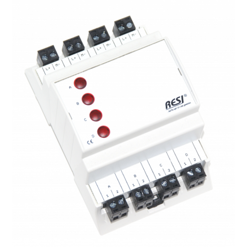 Signal module, DIN ISO16484, VDI 3814 manual operation interface, 4 LEDs in RED