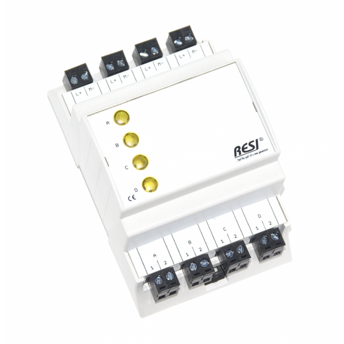Signal module, DIN ISO16484, VDI 3814 manual operation interface, 4 LEDs in GELB