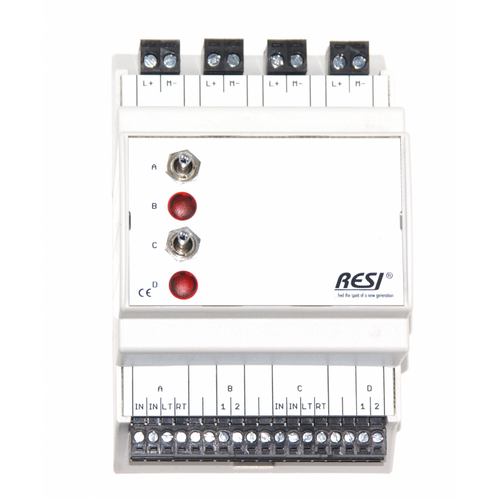 Control and signal module, DIN ISO16484, VDI 3814 manual operation interface, 2 switches: LEFT-CENTER-RIGHT, 2 LEDs in RED