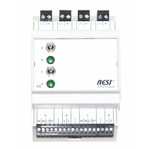 Control and signal module, DIN ISO16484, VDI 3814 manual operation interface, 2 switches: LEFT-CENTER-RIGHT, 2 LEDs in GREEN