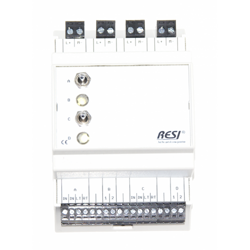 Control and signal module, DIN ISO16484, VDI 3814 manual operation interface, 2 switches: LEFT-CENTER-RIGHT, 2 LEDs in WHITE