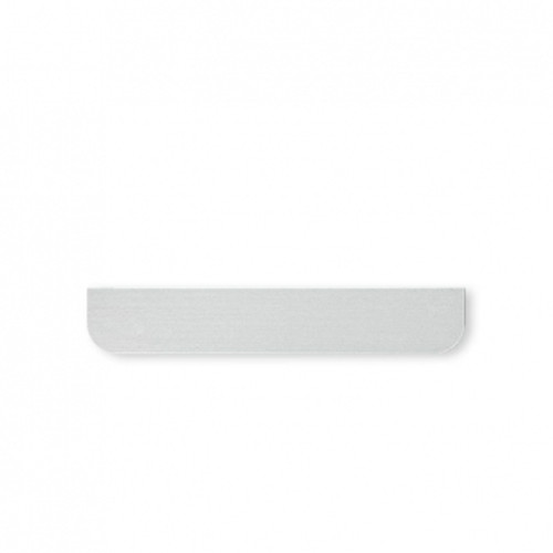 Eve mini cover - rounded - brushed aluminium